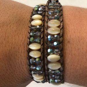 Crystal Wrap Bracelet/Choker Necklace
